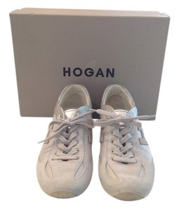Hogan Suede Casual Cream with Silver Accents Athletic