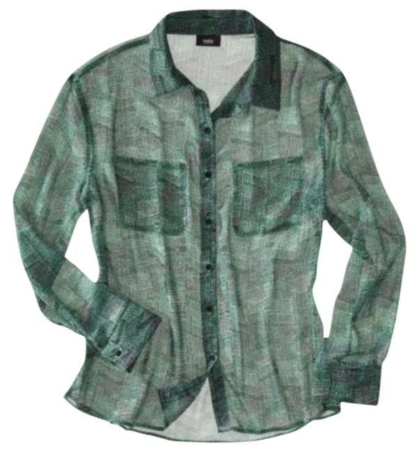 Preload https://img-static.tradesy.com/item/333649/mossimo-supply-co-teal-blue-green-black-white-printed-blouse-button-down-top-size-2-xs-0-0-650-650.jpg