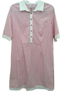 Lacoste short dress Pink and white striped on Tradesy