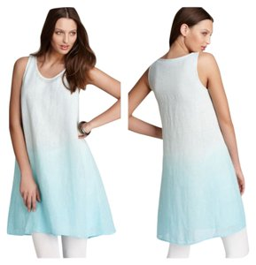 Eileen Fisher short dress Deep aqua on Tradesy