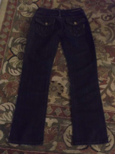 MEK Denim Voyage Size 25 Pants Bottoms Straight Leg Jeans-Coated