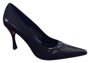Nine West Leather/fabric Upper Man Made Made In China Black Pumps