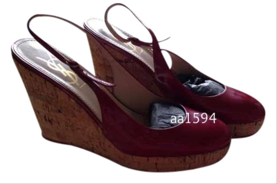 Yves Saint Laurent Berry Wedges Ysl Berry Cork Wedges Size 9 42 Off