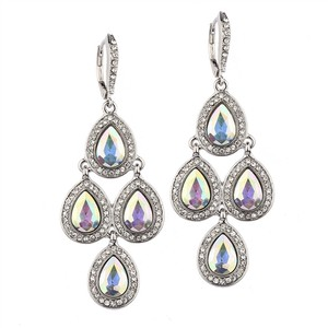 Mariell Popular Ab Pave Teardrops Chandelier Earrings For Weddings Or Prom 4291e-ab-s