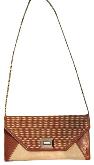 Preload https://item1.tradesy.com/images/brown-and-tan-pleather-cross-body-bag-3338845-0-0.jpg?width=440&height=440