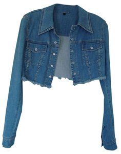 Escada Jean Beaded Crystal Denim Night Out Blue Jean Womens Jean Jacket