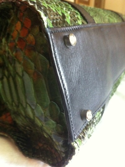 Judith Leiber Tote in Green/Black Image 3