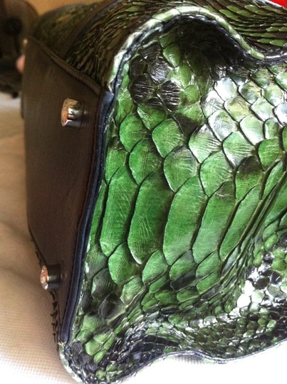 Judith Leiber Tote in Green/Black Image 4