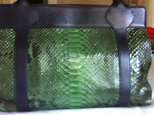 Judith Leiber Tote in Green/Black Image 5