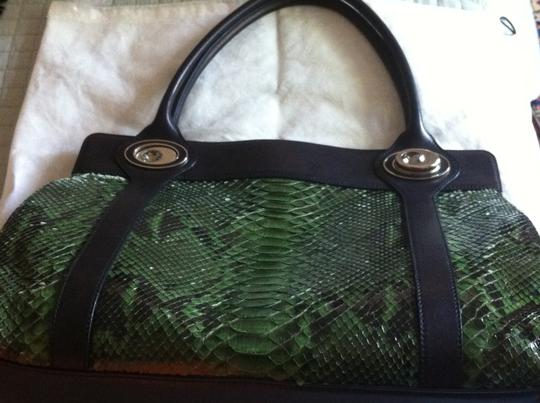 Judith Leiber Tote in Green/Black Image 6