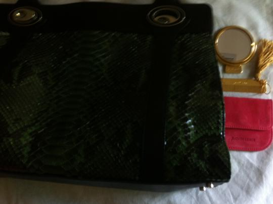 Judith Leiber Tote in Green/Black Image 7