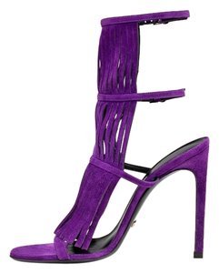 Gucci Gladiator Heels Women Fringe Heels Size 39 purple Sandals