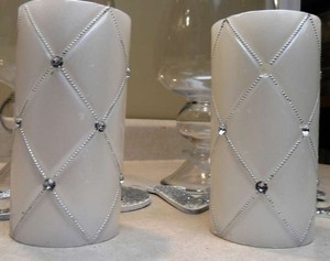 White 2 Pcs. 6 Votive/Candle