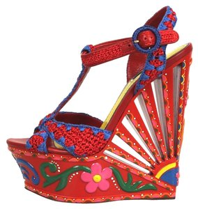 Dolce&Gabbana Dolce & Gabbana D&g Red Heels Multicolor Wedges