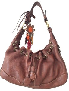 Isabella Fiore Tote in Brown Leather