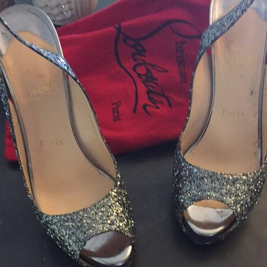 Christian Louboutin Silver Pumps