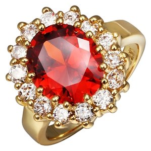 18k Colorfast Gold Plating Fashion Jewelry Crystal Finger Ring