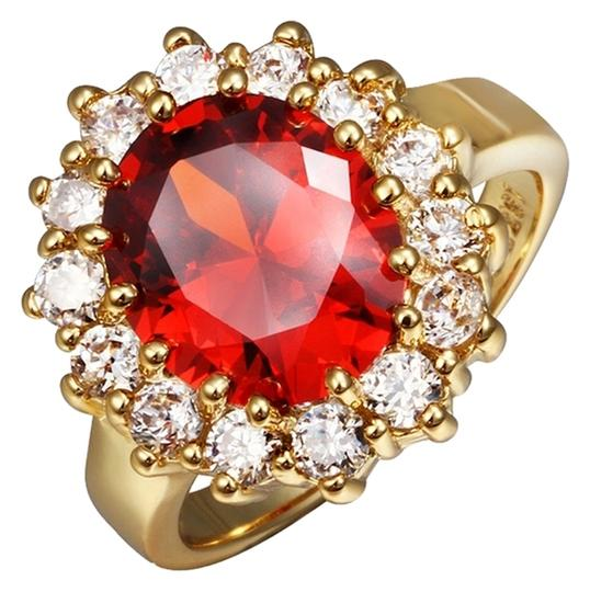 Other 18k Colorfast Gold Plating Fashion Jewelry Crystal Finger Ring