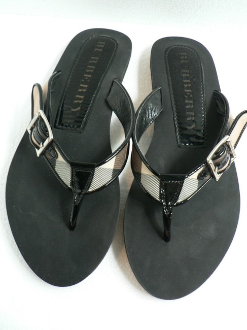 Item - Black Tan Brown Cream Plaid Sandals Size US 9 Regular (M, B)