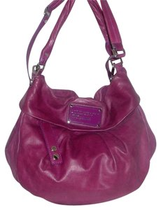 Marc by Marc Jacobs Leather Logo Multi Color Lining Hobo Bag