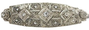 STERLING SILVER 11 DIAMOND .50 CARAT VINTAGE PIN BROOCH ANTIQUE 3.4DWT JEWELRY