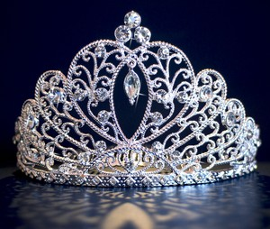 Silver Plated Wedding Tiara Crown