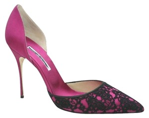 Manolo Blahnik Magenta Pink Hot Pink fuschia Pumps