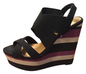 Madden Girl Wedge Purple Black Wedges