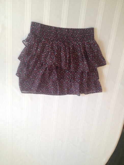 American Eagle Outfitters Floral Mini Skirt Multi Color