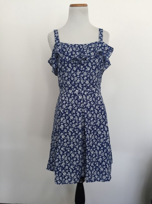 Doe & Rae short dress Blue Floral on Tradesy