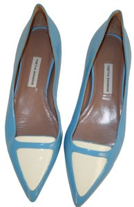 Tabita Simmons Blue /White Flats