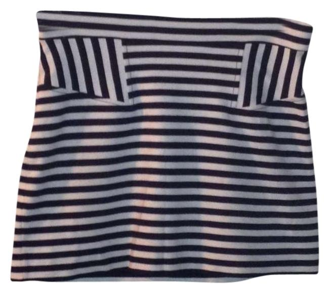 French Connection Mini Skirt Navy and White