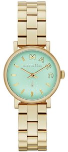Marc by Marc Jacobs Marc By Marc Jacobs Baker Mini Gold Tone Mint Dial Watch - 28 MM MSRP $225