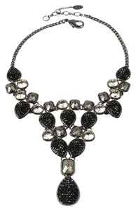 Amrita Singh Amrita Singh Fine Line Contempo Gun Metal Black Crystal Evening Necklace
