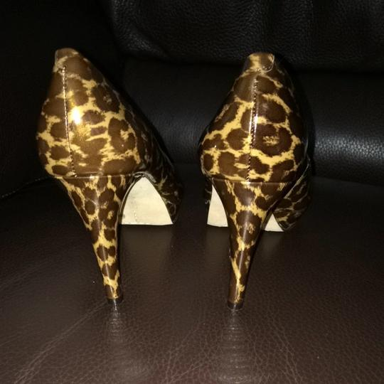 Vince Camuto Animal Print Patent Leather Leopard Pumps