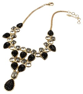 Amrita Singh Amrita Singh Fine Line Contempo Black, Gunmetal, Crystal Gold Necklace