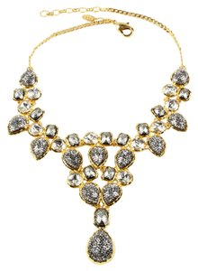 Amrita Singh Amrita Singh Fine Evening Line Contempo Gunmetal, Crystal Gold Necklace