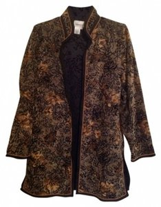 Coldwater Creek black and golds Blazer