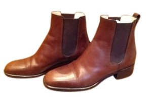 Bally Leather Mahogany Boots