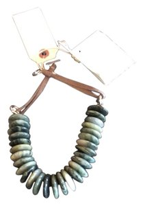 Brunello Cucinelli Brunello Cucinelli Stunning Jade And Leather Necklace