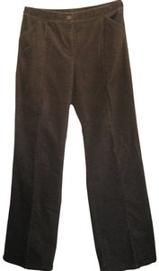 St. John Designer Corduroy Wide Leg Pants Brown