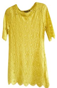 Sam & Libby short dress Yellow on Tradesy