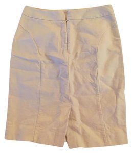 J.Crew Cotton Pencil Classic Work Skirt Cream