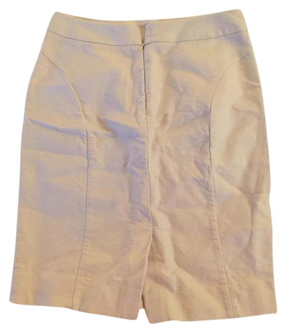 J.Crew Pencil Classic Work Pockets Skirt Cream