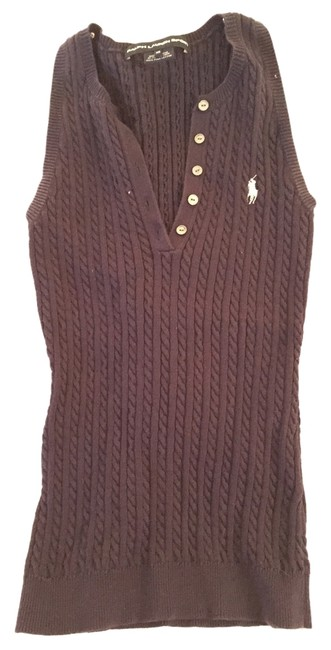 Ralph Lauren Cableknit Sweater Top Blue