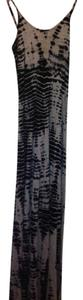 Grey and navy tie dyed Maxi Dress by Patterson J. Kincaid Maxi Dye Scoop Back