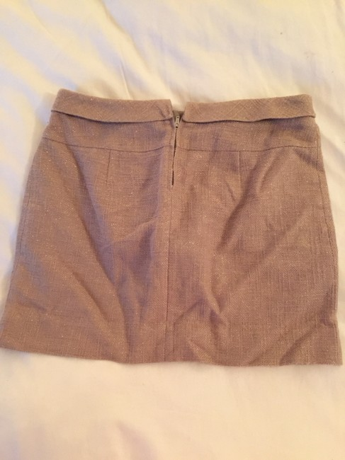 J.Crew Shimmer Metallic Mini Skirt Gold