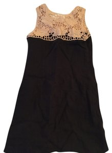 Ann Taylor LOFT short dress Black Melbourne Linen Lace on Tradesy