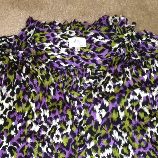 MILLY Top White/purple/green/black