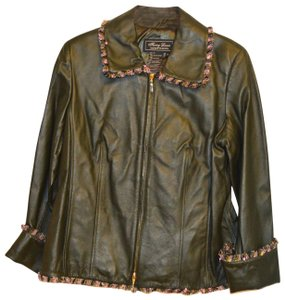Terry Lewis Classic Luxuries Navy Leather Jacket